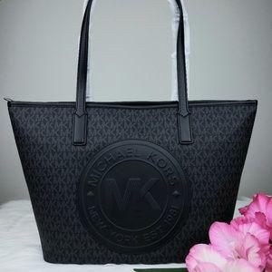 🌺NWT Michael Kors MD Fulton Sport Tote Bag Black